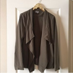 Tobi olive green draped blazer